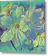 Impressionistic Blue Blossoms Metal Print