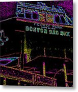 Impressionistic Fenway Park Metal Print by Gary Cain