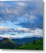 Impressions Of Mountains And Magical Clouds Metal Print