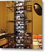 Impressive Wine Rack Metal Print