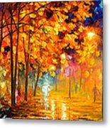 Improvisation Of Trees - Palette Knife Oil Painting On Canvas By Leonid Afremov Metal Print