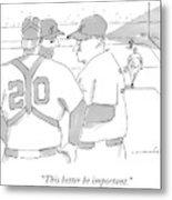 In A Baseball Game Metal Print