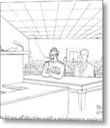 In A Courtroom Metal Print