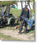Harley Davidson History Lesson Metal Print