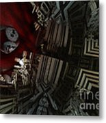 In A Land In Space Metal Print