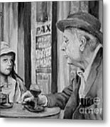 In A Parisian Cafe Metal Print