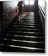 In A Stairwell Metal Print
