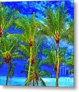 In A World Of Palms Metal Print