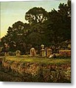 In Country Churchyard Wittington Worcester Metal Print