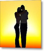 In Each Others Arms... Metal Print