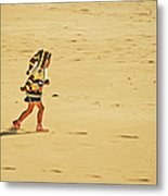 In Giant Footsteps Metal Print