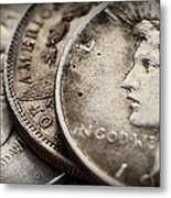 In God We Trust_silver Dollars Metal Print