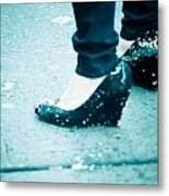 In Her Shoes Metal Print