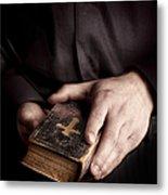 In His Hands Metal Print