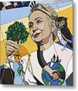 In Honor Of Hillary Clinton Metal Print by Konni Jensen