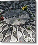 In Memory Of John Lennon - Imagine Metal Print