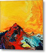 In Mountains Metal Print