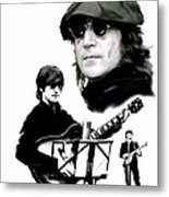 In My Life  John Lennon Metal Print by Iconic Images Art Gallery David Pucciarelli