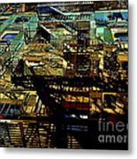 In Perspective - Fire Escapes - Old Buildings Of New York City Metal Print