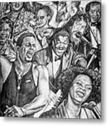 In Praise Of Jazz Metal Print by Steve Harrington