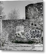 In Side The Boathouse Metal Print