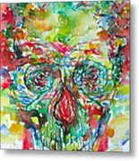 In Silence The Inaudible Voices Spoke Metal Print