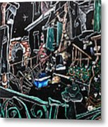 In Sospensione - Wallpaper Venice Italy - Venedig Kunstausstellung Metal Print