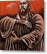 In The Arms Of Christ Metal Print