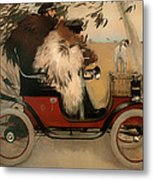 In The Automobile Metal Print