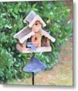 In The Birdhouse - Oil Metal Print