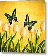 In The Butterfly Garden Metal Print by Edward Fielding
