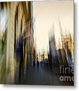 In The Canyons Of The City Metal Print