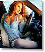 In The Car Metal Print