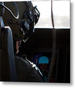 In The Cockpit Metal Print