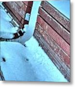 In The Coldest Of Days...i Still Wait... Metal Print