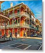 In The French Quarter - Paint Metal Print
