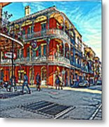 In The French Quarter Painted Metal Print