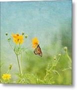 In The Garden - Monarch Butterfly Metal Print
