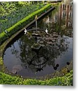 In The Heart Of Amsterdam Hidden Tranquility  Metal Print