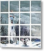 In The Holiday Spirit At Marblehead Metal Print