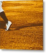 In The Infield Metal Print