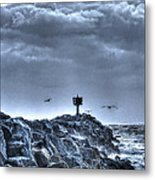 In The Jetty Moss Landing Monterey County  Metal Print
