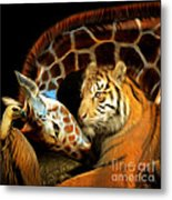 In The Jungle 20150215brun Square Metal Print