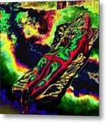 In The Kaleidoscopic Clutches Of Books Metal Print