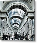 In The Louvre  Metal Print