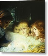 In The Manger Metal Print