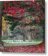 In The Park Square Metal Print