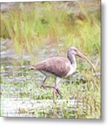 In The Pasture Grass Metal Print