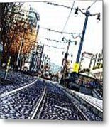 In The Path Of A Cable Car Metal Print