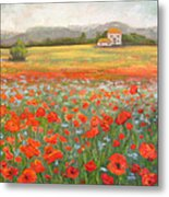 In The Poppy Field Metal Print